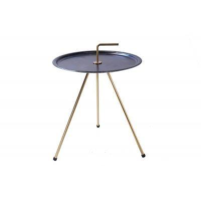 Háromlábú asztalka 42 cm, kék-arany - CIBLE